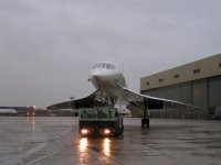 Concorde waiting to cross the road; Copyright Peter Sheil 2003