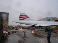 Concorde crosses the road; Copyright Peter Sheil 2003