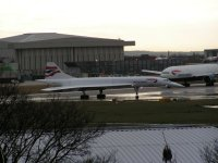 Concorde on Heathrow airfield; Copyright Peter Sheil 2003